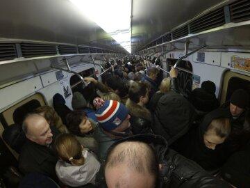 давка, метро, толпа