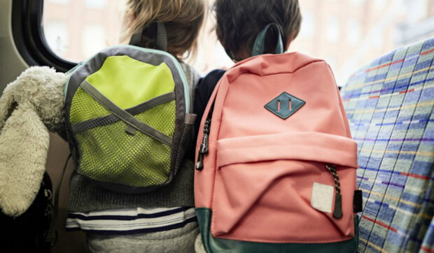 дети, школьники, рюкзаки
