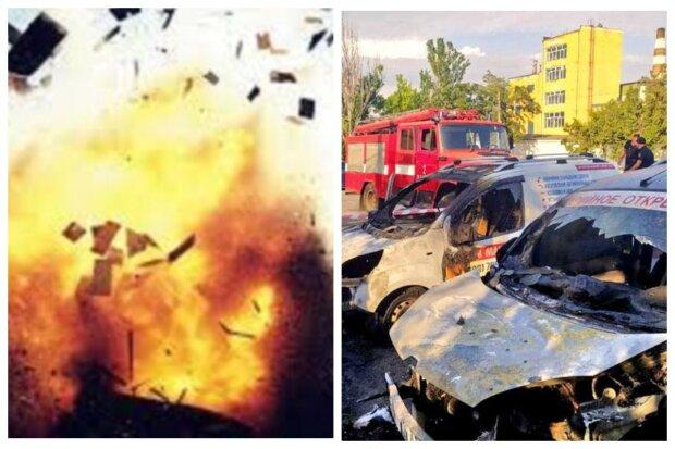 Вибух прогримів на Одещині, пожежа знищила будинок і автомобілі: відео НП