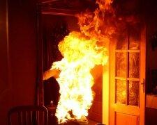 пожар, огонь, горит заживо