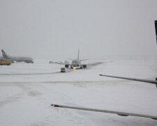 снег, аэропорт