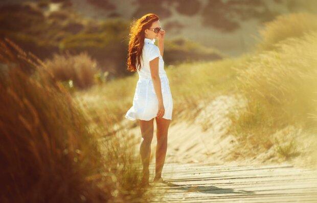 лето, женщина, жара
