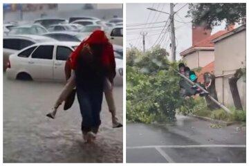 Черноморский циклон разбушевался в Одессе: появилось видео последствий непогоды