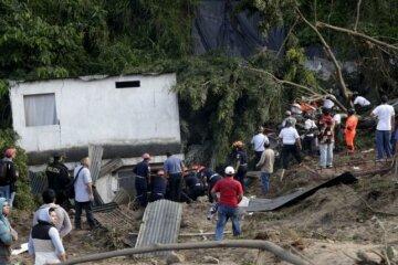 селевой поток в Гватемале