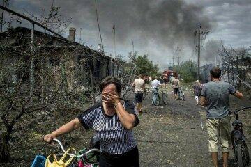 Донбасс, катастрофа, слезы, переселенцы