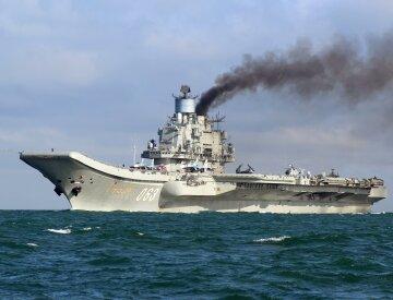 В России «Адмирала Кузнецова» встретили свиньей (видео)