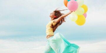 шары, радость, девушка