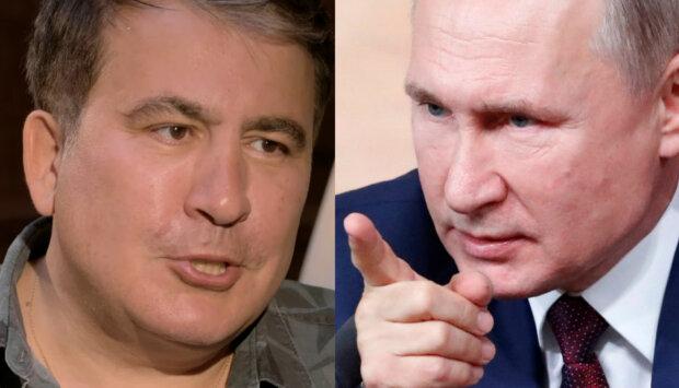Михеил Саакашвили, Владимир Путин