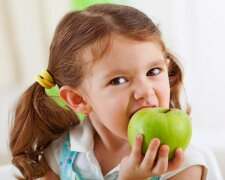 яблоко, фрукты, дети
