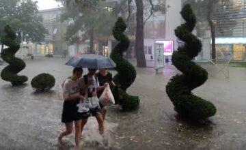 дождь, гроза