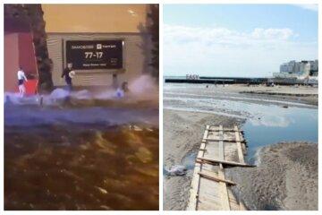 """""""Бог карає Аркадію"""": в Одесі показали, як частину пляжу змило в морі, кадри"""