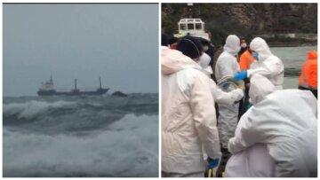 """Крушение корабля с украинцами в Черном море, на скалах заметили тела: """"Для некоторых рейс был первым"""""""