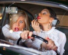 за рулем, девушка, водитель