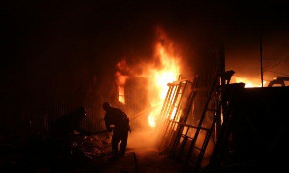 Пирогово в огне: «поджигатель» заплатит огромную сумму (фото)