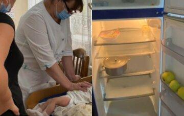Холодильник пуст: родители довели малышей до больницы, младшей всего 6 месяцев