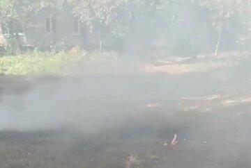 """""""Нікуди дівати"""": у Харкові двірники палять траву і листя прямо під житловими будинками, відео"""