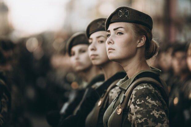 армия, женщина