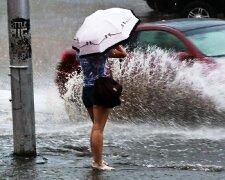 погода, дождь, лужа
