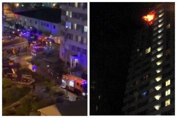 В Одесі загорілася багатоповерхівка, мешканці будинку опинилися в пастці: кадри НП і подробиці