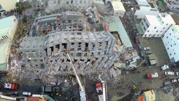Тайвань землетрясение