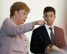 Зеленский, Меркель
