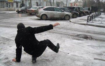 гололед, зима, погода на сегодня