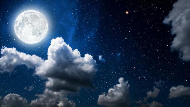 лунный календарь на апрель 2019, луна, небо, полнолуние