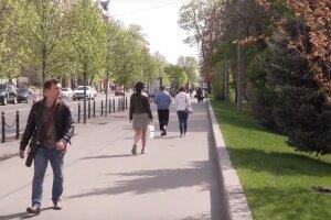 весна, солнечно, украинцы, тепло