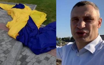 """Кличко похвастался флагом за 47 миллионов, но спустя 4 дня он порвался: """"Ничего, новый поставим"""""""