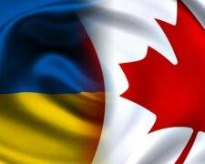 Канада, украина, флаг