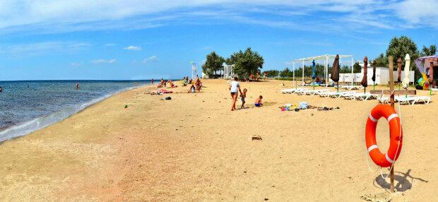 пляж, крым