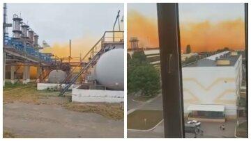 ЧП на крупном химзаводе в Украине, город накрыло рыжим дымом: кадры и подробности