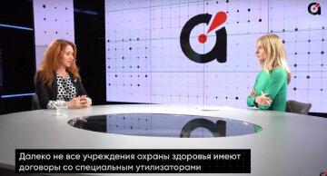 Далеко не все больницы в Украине имеют договора со специальным утилизатором ковидных отходов, - Лисневская