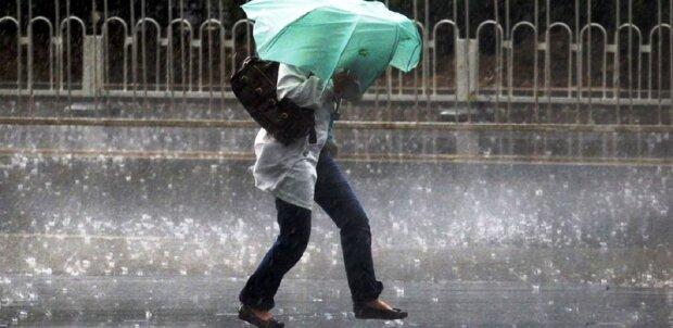 погода, дождь, зонт