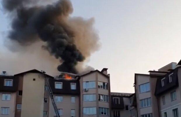 """""""Господи, протяни им руку помощи"""": под Киевом огонь оставил без крыши над головой десятки людей, видео"""