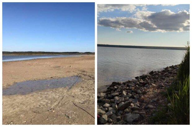 Самое большое озеро Одесчины исчезает из-за засухи: кадры происходящего