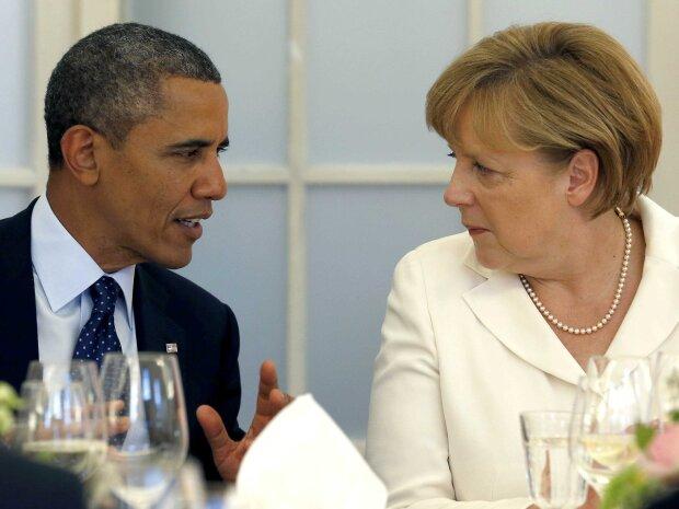 президент сша барак обама и канцлер германии ангела меркель