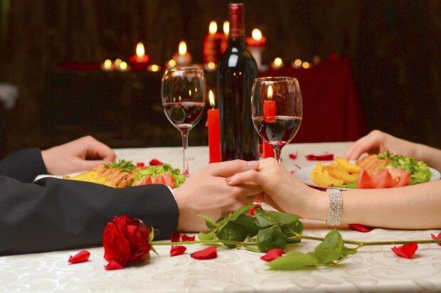 день святого валентина, вечеря, романтика