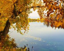 река осень озеро