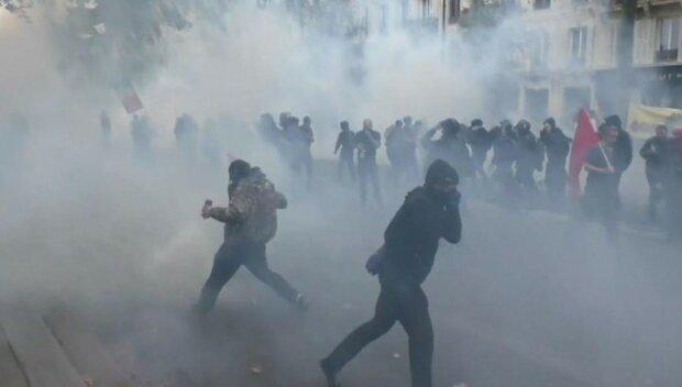 дым толпа митинг