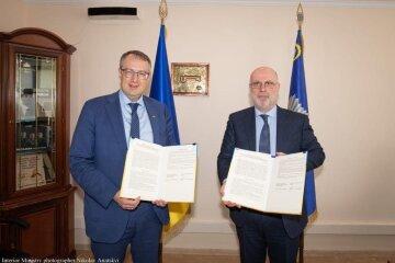 Президент АНУ Григол Катамадзе и замминистра МВД Антон Геращенко подписали меморандум о сотрудничестве