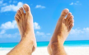 ноги ступни мужские пляж море океан