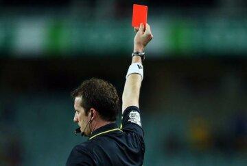 красная карточка футбол