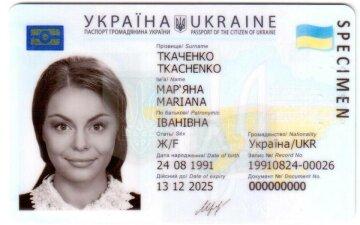 пластиковый паспорт Украины