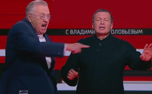 """""""Розстріляти і заарештувати"""": Жириновський накинувся на Соловйова в прямому ефірі"""