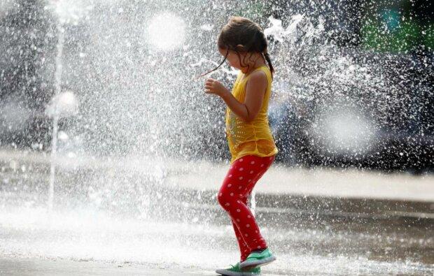 погода жара фонтан ребенок