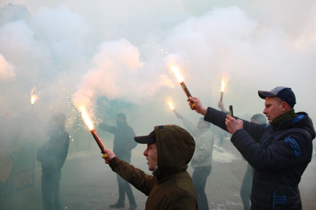 митинг протест акция КОГА фаер