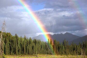 дождь радуга