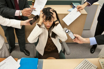 работа в офисе, стресс