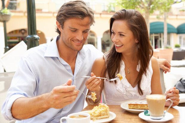 любовь, пара, завтрак